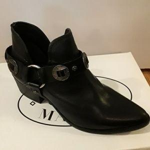 BRWT - Steve Madden black leather ACES boot